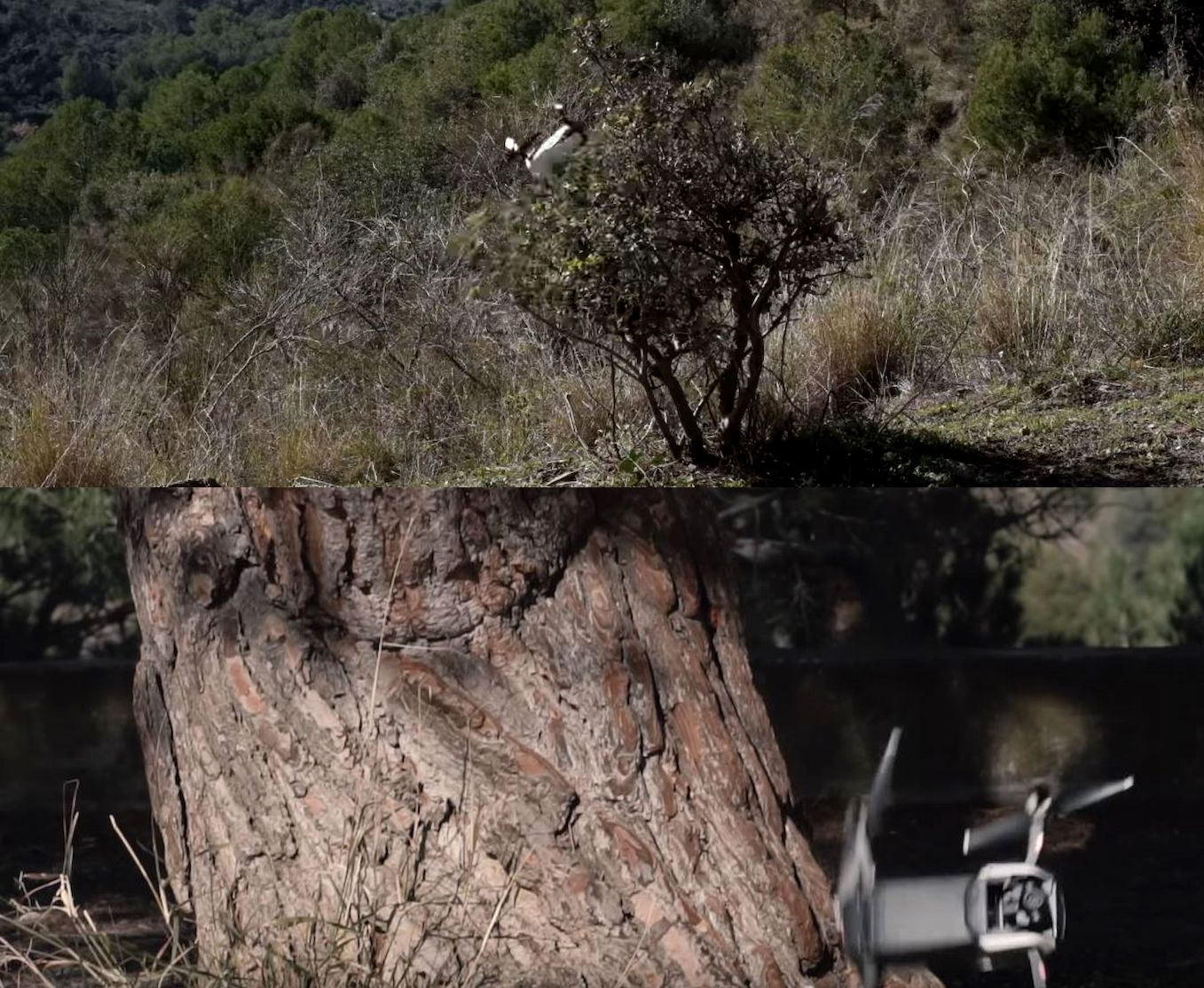 dron-mavic air crash